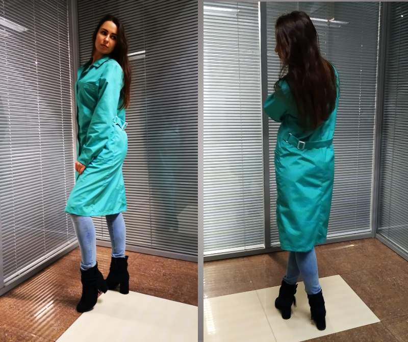 Антистатический халат зеленый