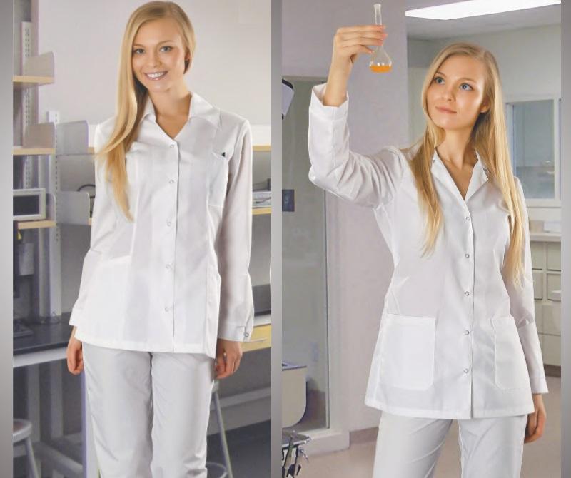 Антистатический халат короткий