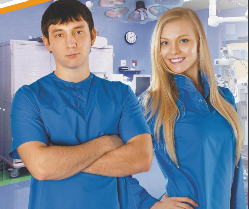 Антистатический халат синий