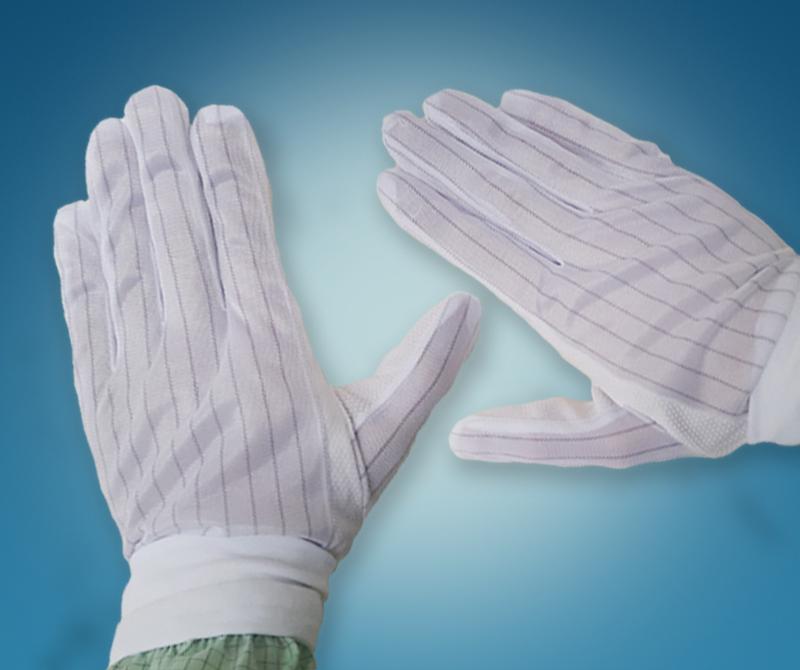 Антистатические перчатки с нитью