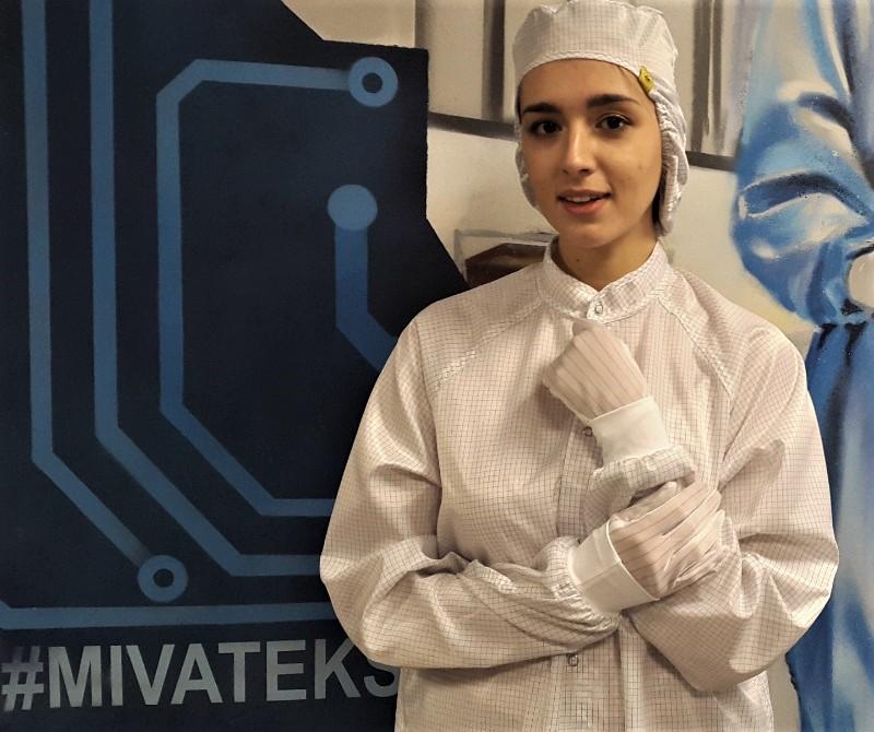 Антистатический халат белый для чистых помещений