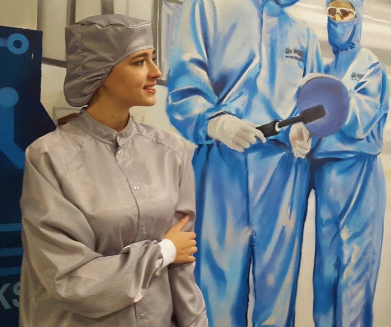 Антистатический халат серый для чистых помещений