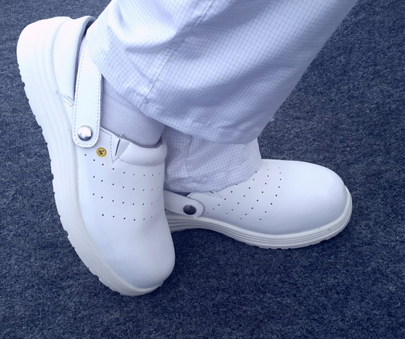 Белая антистатическая обувь для электронных производств