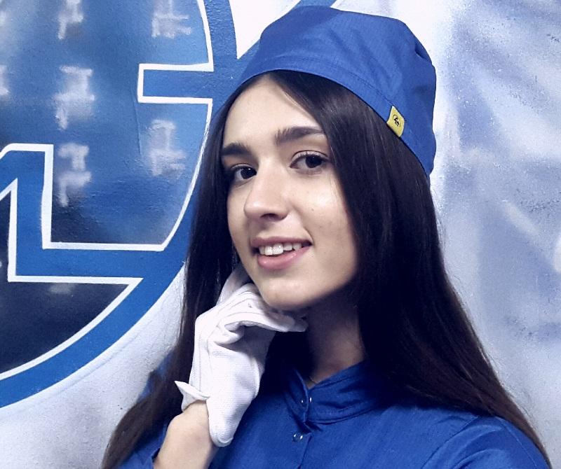 Антистатическая шапочка синяя