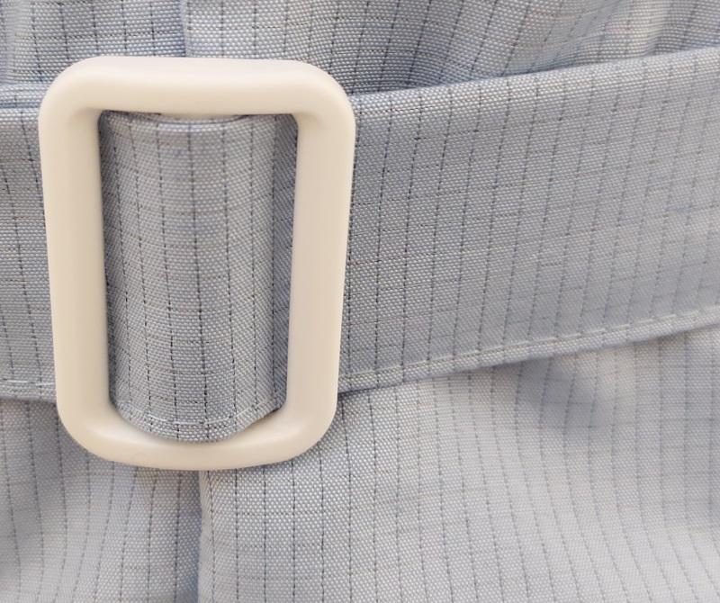 Фиксация на коротком антистатическом халате