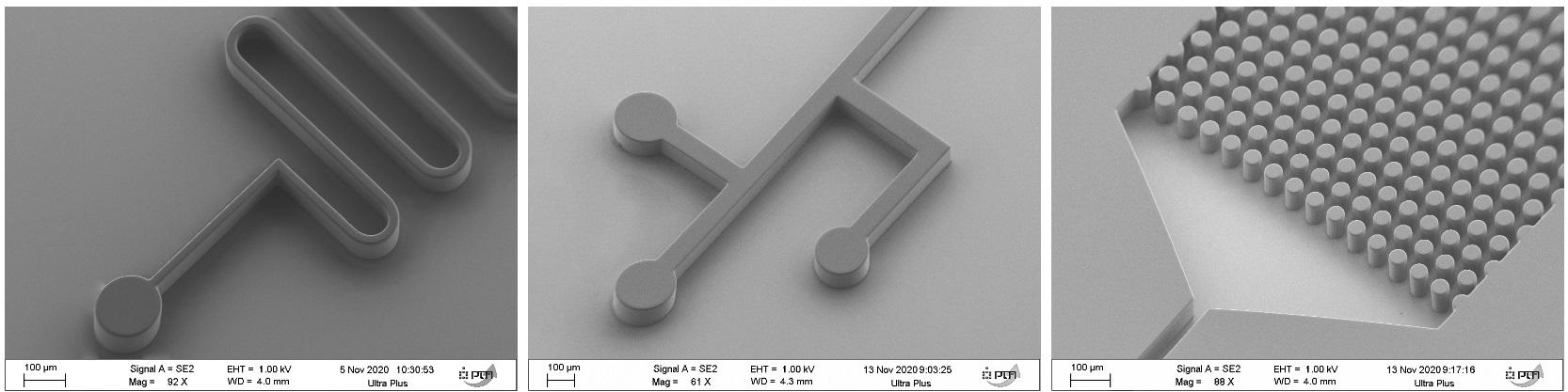 Примеры микроструктур безмасковой литографии